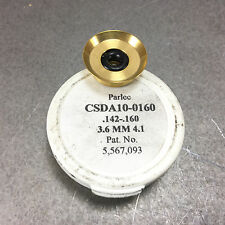 "Parlec DA100 Collet .142-.160"" Golden Coolant Seal CSDA10-0160 - NEW"