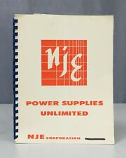NJE Power Supplies Custom Model 398-7911-1 Instruction Manual