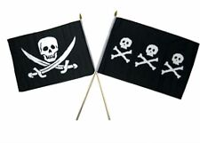 "12x18 12""x18"" Wholesale Combo Pirate Calico Jack & Chris Condent Stick Flag"