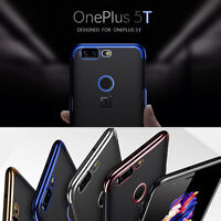 Shockproof Plating Clear Ultra-thin Soft Silicone Case Cover For OnePlus 5T 5 T