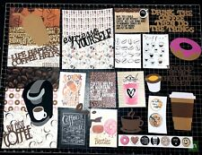 COFFEE Scrapbook Kit! 2.0 Project Life, planner, Scrapbook,  Paper,  die cuts