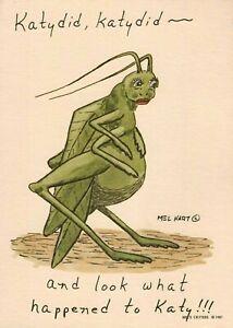 Mel Hart Mel's Critters 1981 Katydid 5 x 7 Print - New & Sealed