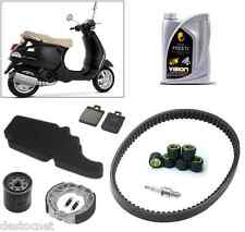 Pack Révision Courroie Galet filtre frein + Huile Piaggio Vespa LX 125 4T 05-12