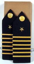US Navy Midshipman USNA Naval Academy NROTC Male 1st CL Captain Shoulder Boards