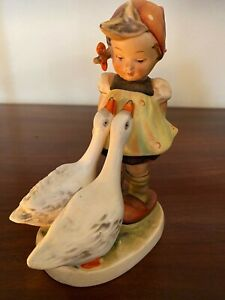 "**Vintage** Hummel School Girl with Geese figurine, Goebel - 5.25"" tall"