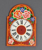 altes Uhrenschild Uhren ZIFFERBLATT f Uhrwerk Uhr Schwarzwalduhr Wanduhr