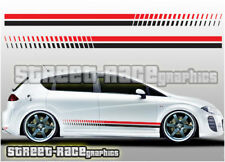 Seat side 012 racing stripes graphics stickers decals Leon Ibiza Cupra FR Sport