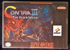 Contra 3 III The Alien Wars SNES Horizontal High Quality Art/Case by RetroDan