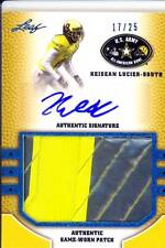 keisean lucier south rookie rc draft auto jersey patch army college/hs 2C #/25