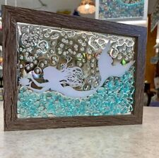 Mermaid Glass Window Art Ocean Beach Suncatcher Decoration
