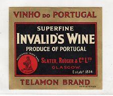 SUPERFINE INVALID'S WINE: Label (C3364).