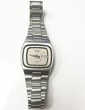 Seiko Case 6309-5080 Seiko 5 Automatic Matte SS TV Dial Model Silver Band Watch