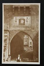 Carte postale ancienne animée SUISSE - GRUYERES - Porte d'Entrée côté Nord