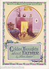 C4116pac Golden Thought Booklet About Father vintage postcard