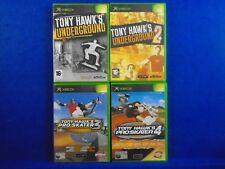 xbox TONY HAWKS x4 Games Pro Skater 3 + 4 + Underground 1 + 2 PAL UK