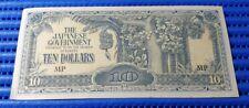 Malaya Japanese Occupation Money $10 Ten Dollars Banknote ( Genuine JIM Note )