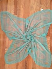 Papillon Square Green Skull Scarf Wrap Accessories Gift! NEW