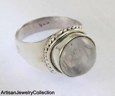 RAINBOW MOONSTONE SIZE 7 RING 925 SILVER ARTISAN JEWELRY COLLECTION R539A