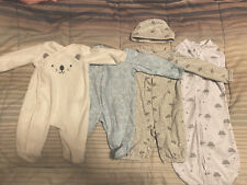 Lot of 7: Preemie & Newborn Baby Boy Girl Gender Neutral Clothes Swaddle
