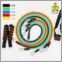 11 Pcs/Set Latex Resistance Bands Crossfit Yoga Tube Pull Rope Training Exercise