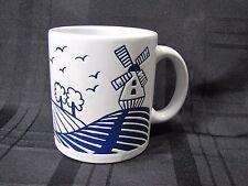 VINTAGE WAECHTERSBACH HOLLAND DUTCH COFFEE CUP MUG WINDMILL BIRDS COUNTRYSIDE