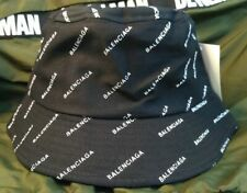 Unisex Balenciaga Bucket Cap Outdoor Sports Hat Black