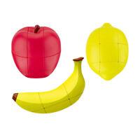 3 Pack Fruit Shape Magic Cube Set Apple Banana Lemon Puzzle Toy Gifts Birthday