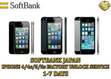 SOFTBANK JAPAN - IPHONE 4/ 4S/ 5/ 5S FACTORY UNLOCK SERVICE.