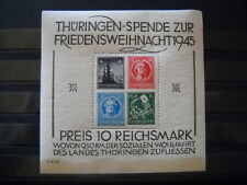 SBZ, Thüringen, Michel Block 2 t (II), postfrisch mit Attest ( kl. Einschränk.)