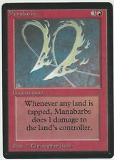 Beta MTG  Manabarbs  Magic Rare Unplayed