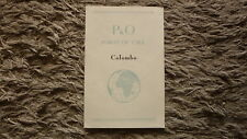 1950s P&O STEAMSHIP CRUISE SHIP BROCHURE, PORT OF CALL COLOMBO