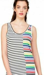 NEW United Colors of Benetton Rainbow Tank Top Size S