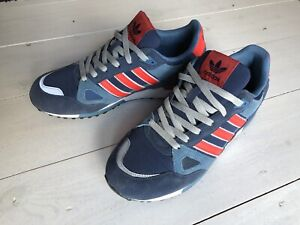Adidas Trainers Originals zx 750 Blue Red Grey Size UK 8.5