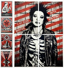 OBEY X LEVIS PRINT SUITE :  LITHOGRAPH : SHEPARD FAIREY : EYE, STAY UP GIRL