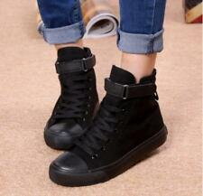 Womens Casual Breathable Canvas Sports Shoes High-top Lace Up Flat Sneakers Shoe