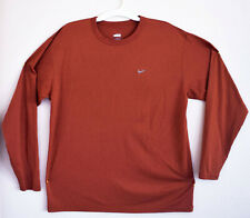 Nike Dri-Fit (L) Mens T-shirt Light Sweatshirt Sport Top Athletic Orange Bronze