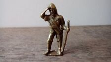Vintage Brass Ornament In The Form Of A Soldier On Lookout