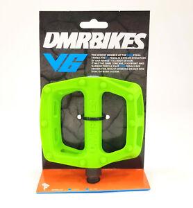 """DMR V-6 Pedals, 9/16"""" Plastic Platform Green"""