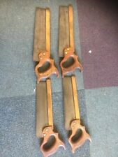 4 Vintage  Brass Backed 10 Inch Tenon Saws