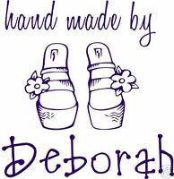 UNMOUNTED PERSONALIZED 'HAND MADE BY' RUBBER STAMPS H87