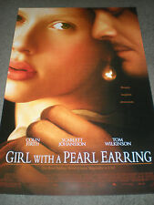 GIRL WITH A PEARL EARRING - ORIGINAL DS THEATRICAL POSTER - SCARLETT JOHANSSON