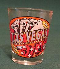 LAS VEGAS NEVADA SHOT GLASS    CARDS AND DICE