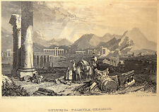 Gravure Etching Kupferstich Incisione Palmyra تدمر; Tadmur,Sūriyyah, سوريا