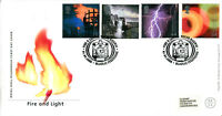 1 FEBRUARY 2000 FIRE AND LIGHT ROYAL MAIL FIRST DAY COVER WELSH RAILWAY SHS