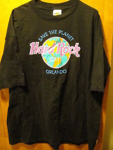 Hard Rock Cafe VINTAGE Orlando AUTHENTIC T Shirt Black One Size Fits All US MADE