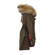 Damen Winter Jacke Baumwolle mantel daunen Jacke ECHTE Waschbär Pelzkragen Parka
