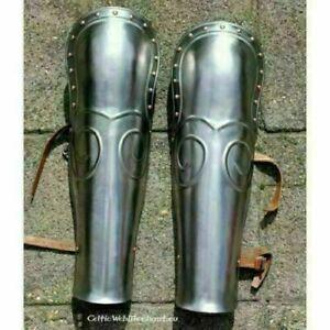 Medieval Gladiator greaves Armor Leg Guard Armor Knight Crusader Steel leg