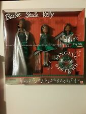 """Holiday Singing Sisters Barbie Stacie Kelly Dolls """"Deck The Halls"""" 2000 Gift set"""