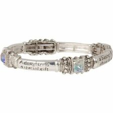 NEW Daughter is a Special Gift Stretch Bracelet with AB Crystals & Silvertone