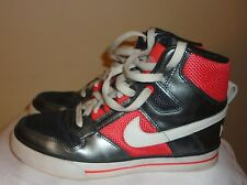 Nike Women's Delta Force High AC - Size 6 - Anthracite /White / Hot Red / Grey